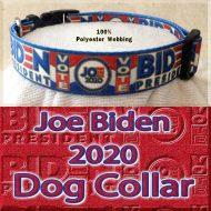 Joe Biden 2020 President Designer Polyester Webbing Dog Collar Product Image No4