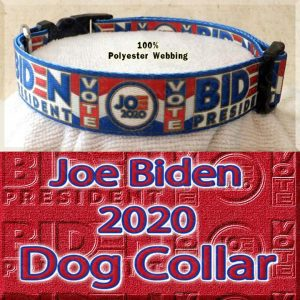 Joe Biden 2020 President Designer Polyester Webbing Dog Collar Product Image No4