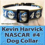 Kevin Harvick Fan NASCAR Number 4 Polyester Webbing Dog Collar Product Image No3