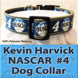 Kevin Harvick Fan NASCAR Number 4 Polyester Webbing Dog Collar Product Image No3
