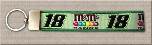 Kyle Busch Number 18 NASCAR Designer Key Fob Product Image No1