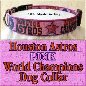 Pink Houston Astros World Champions Dog Collar Product Image No4