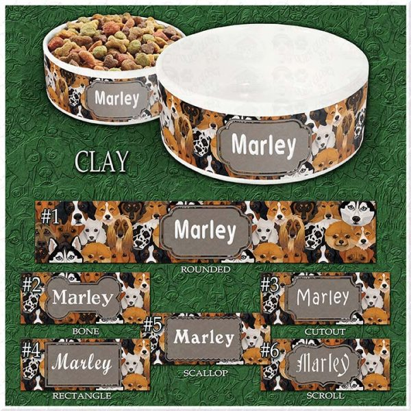 CLAY Dog Breed Faces Choices Product Image