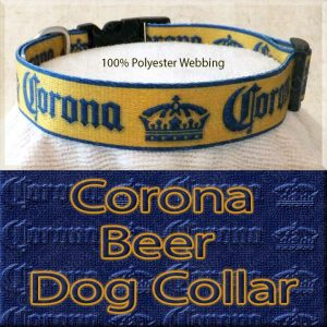 Corona Beer Designer Polyester Webbing Dog Collar Product Image No2