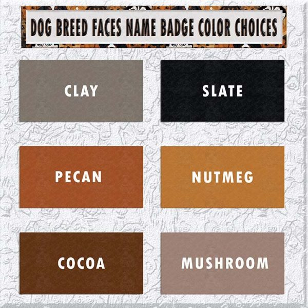DOG BREED FACES BADGE COLOR CHOICES PRODUCT IMAGE