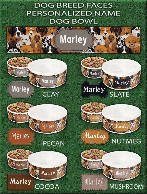 DOG BREED FACES BOWL SAMPLES PRODUCT IMAGE