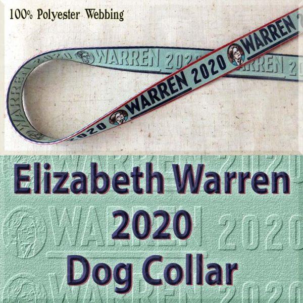 Elizabeth Warren 2020 Polyester Webbing Dog Collar Product Image No1