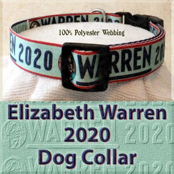 Elizabeth Warren 2020 Polyester Webbing Dog Collar Product Image No3
