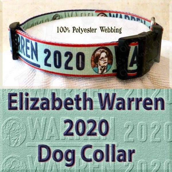 Elizabeth Warren 2020 Polyester Webbing Dog Collar Product Image No4