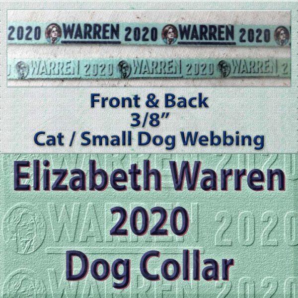 Elizabeth Warren 2020 Polyester Webbing Dog Collar Product Image No5