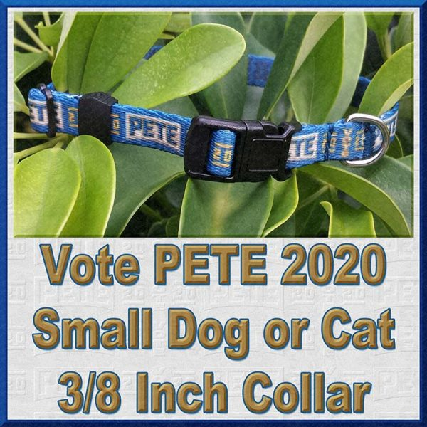 Pete Buttigieg for President 2020 Cat or Small Dog Collar Product Image No1