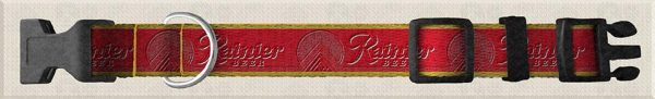 Rainier Beer Reverse Side Custom Designed Polyester Webbing Dog Collar Product Image No1