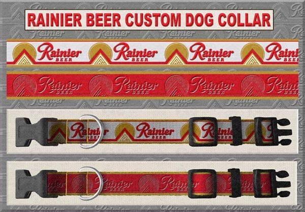 Rainier Beer Custom Design Dog Collar Product Design Image No1