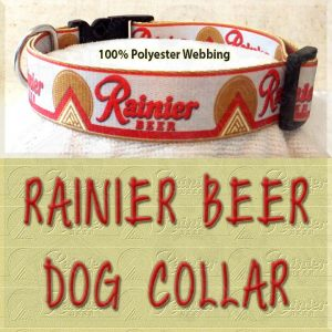 Rainier Beer Custom Designed Polyester Webbing Dog Collar Product Image No3