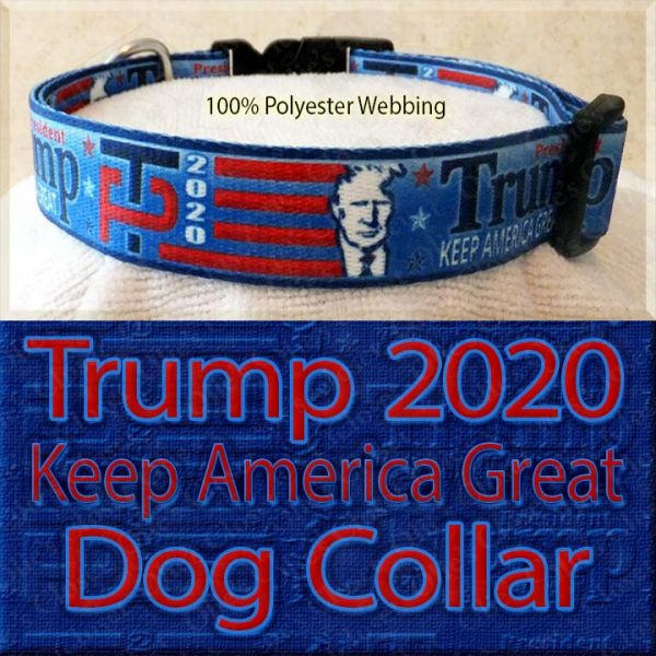 Trump 2020 for President Designer Polyester Webbing Dog Collar Product Image No2