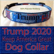 Trump 2020 for President Designer Polyester Webbing Dog Collar Product Image No3