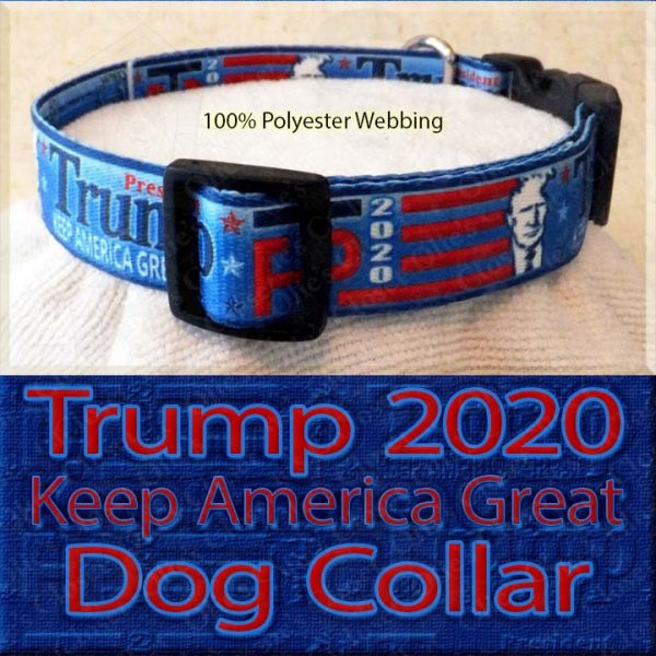 Trump 2020 for President Designer Polyester Webbing Dog Collar Product Image No4