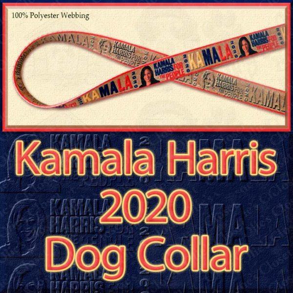 Kamala Harris 2020 For President Designer Polyester Webbing Dog Collar Product Image No1