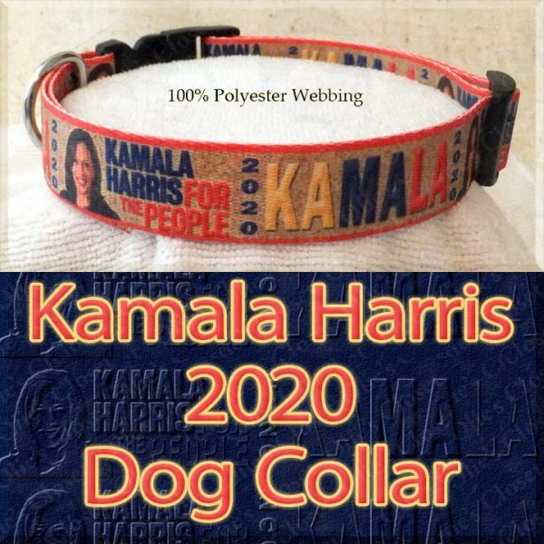 Kamala Harris 2020 For President Designer Polyester Webbing Dog Collar Product Image No2