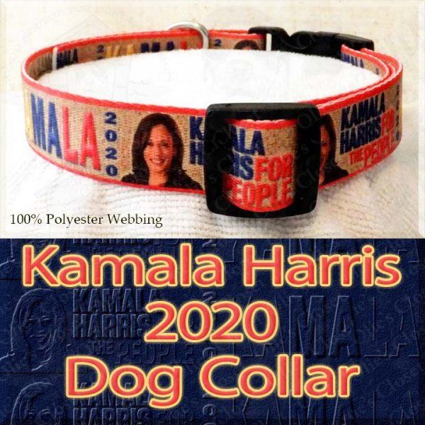 Kamala Harris 2020 For President Designer Polyester Webbing Dog Collar Product Image No3