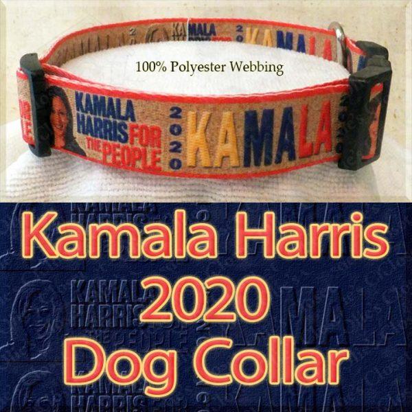 Kamala Harris 2020 For President Designer Polyester Webbing Dog Collar Product Image No4