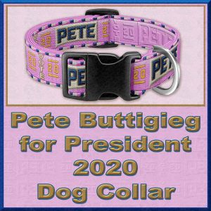 PINK Pete Buttigieg for President 2020 Dog Collar Product Image No3