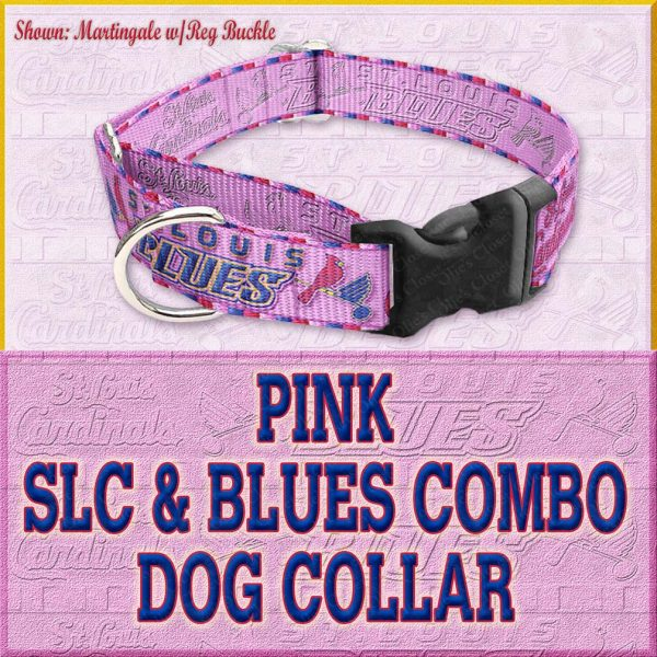 PINK SLC Blues Combo Custom Design Request Dog Collar Product Image No7