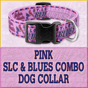 PINK SLC Blues Combo Custom Design Request Dog Collar Product Image No8