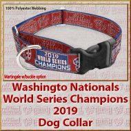 Washington Nationals World Series Champions 2019 Polyester Ver No2 Webbing Dog Collar Product Image No2