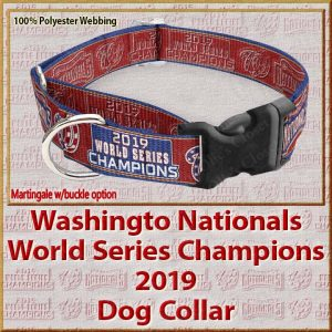 Washington Nationals World Series Champions 2019 Polyester Ver No2 Webbing Dog Collar Product Image No2