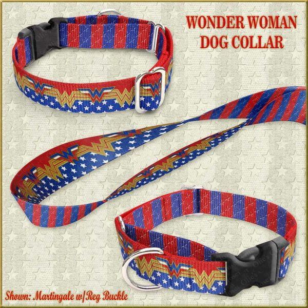 Wonder Woman Custom Design Request Dog Collar Product Image No2