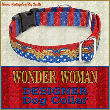 Wonder Woman Custom Design Request Dog Collar Product Image No3
