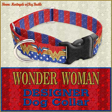 Wonder Woman Custom Design Request Dog Collar Product Image No4