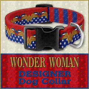 Wonder Woman Custom Design Request Dog Collar Product Image No5