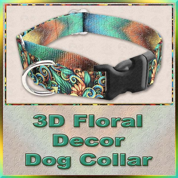 3D Floral Decor Dog Collar Product Image No1