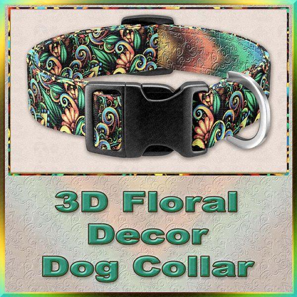 3D Floral Decor Dog Collar Product Image No2
