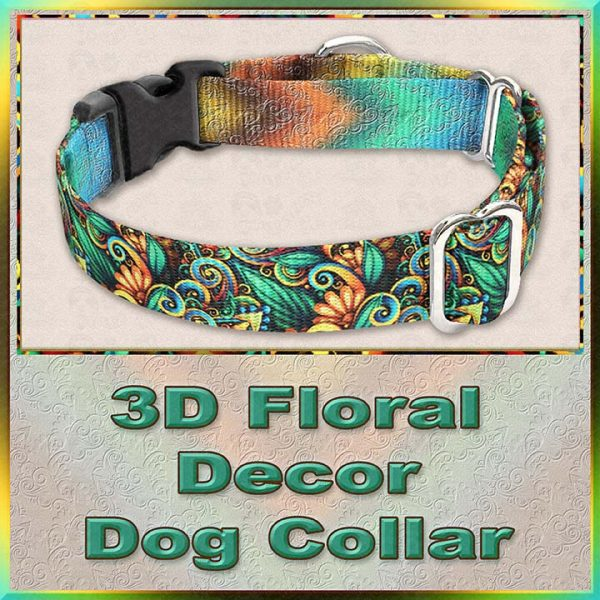 3D Floral Decor Dog Collar Product Image No3