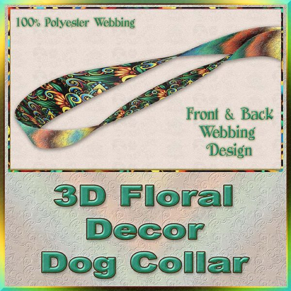 3D Floral Decor Dog Collar Product Image No4