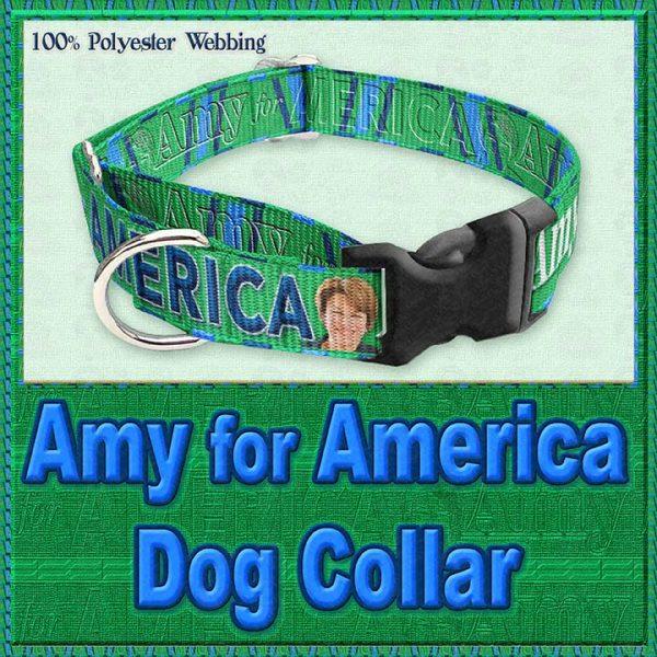 Amy Klobucher for President Designer Dog Collar Product Image No1