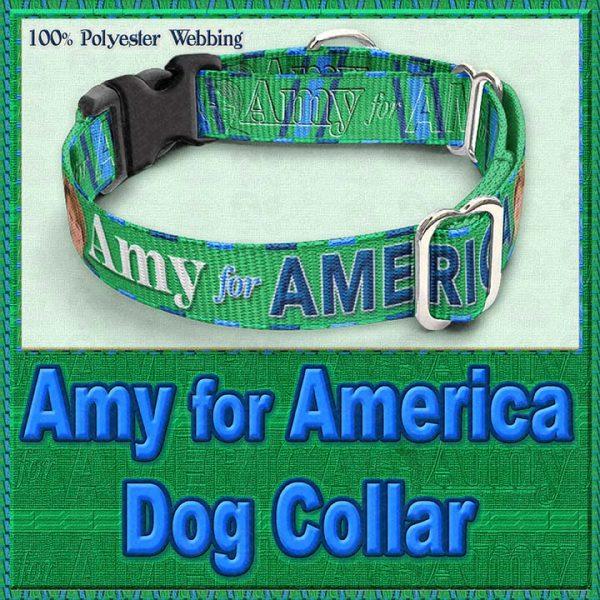 Amy Klobucher for President Designer Dog Collar Product Image No2