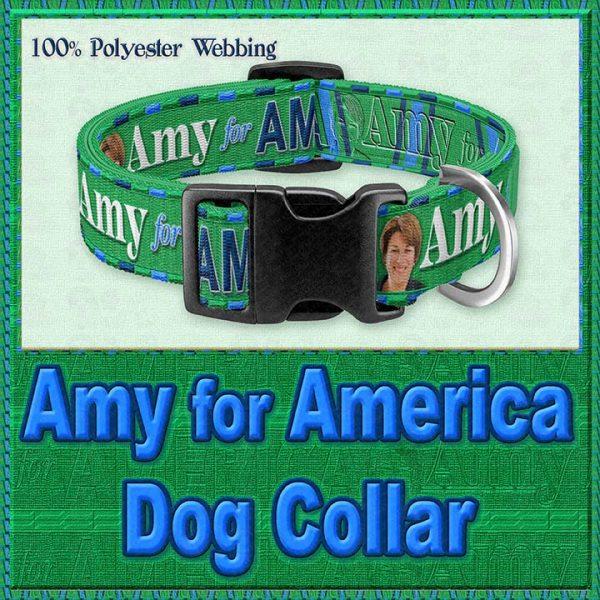 Amy Klobucher for President Designer Dog Collar Product Image No3