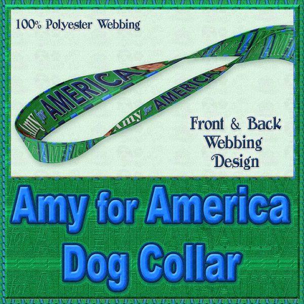 Amy Klobucher for President Designer Dog Collar Product Image No4