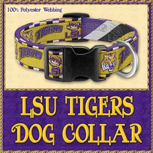 LSU Tigers Designer Dog Collar Product Image No1
