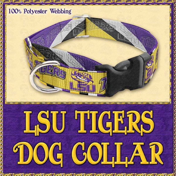 LSU Tigers Designer Dog Collar Product Image No2