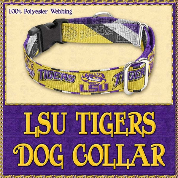 LSU Tigers Designer Dog Collar Product Image No3