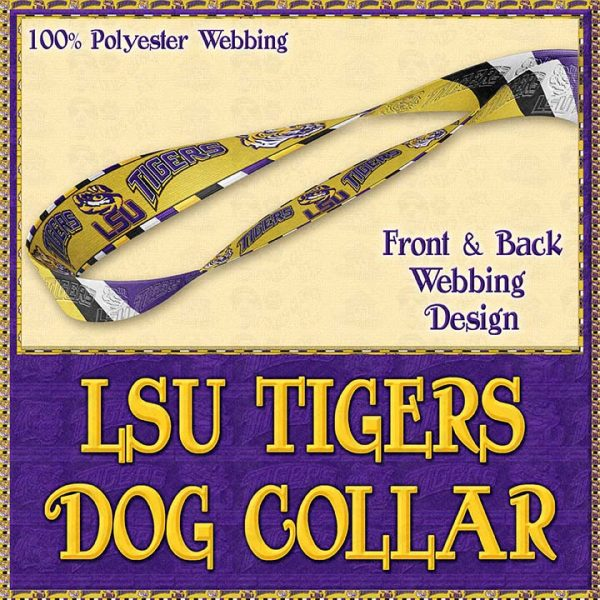 LSU Tigers Designer Dog Collar Product Image No4