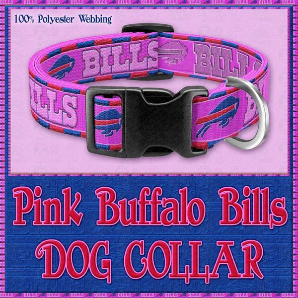 Pink Buffalo Bills Designer Dog Collar Product Image No1