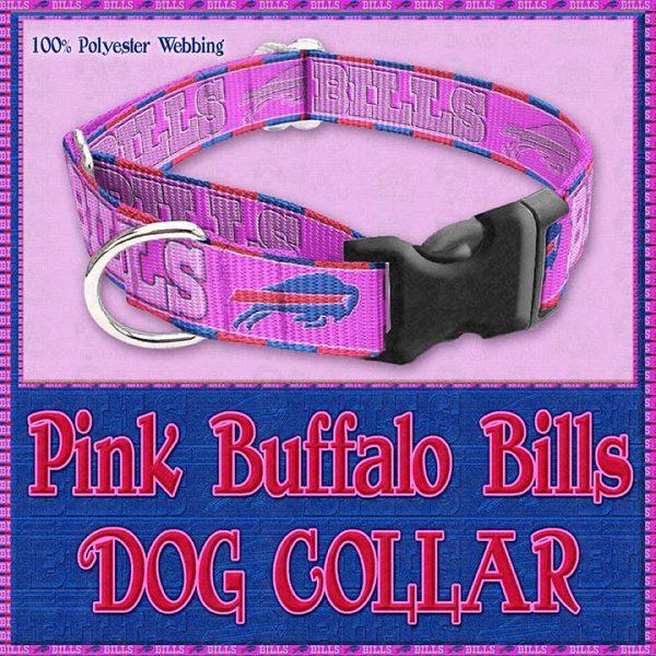 Pink Buffalo Bills Designer Dog Collar Product Image No2