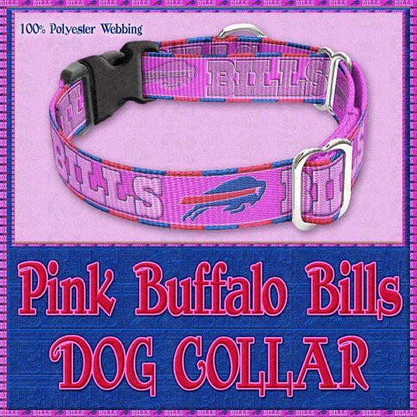 Pink Buffalo Bills Designer Dog Collar Product Image No3