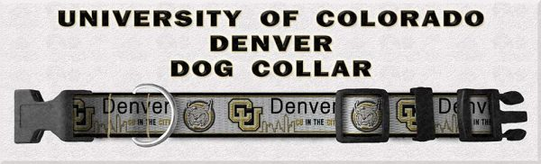 University of Colorado Denver Lynx Polyester Webbing Dog Collar Product Image No4